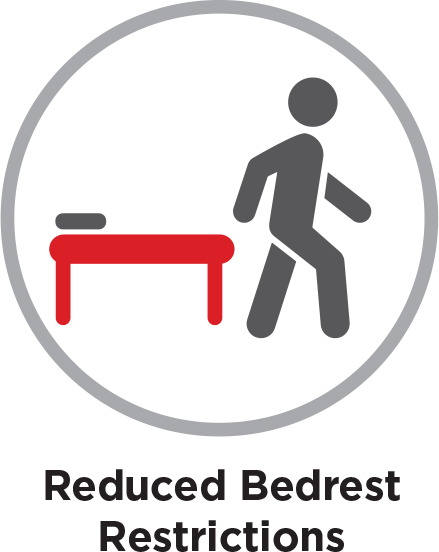 Reduced bedrest restrictions
