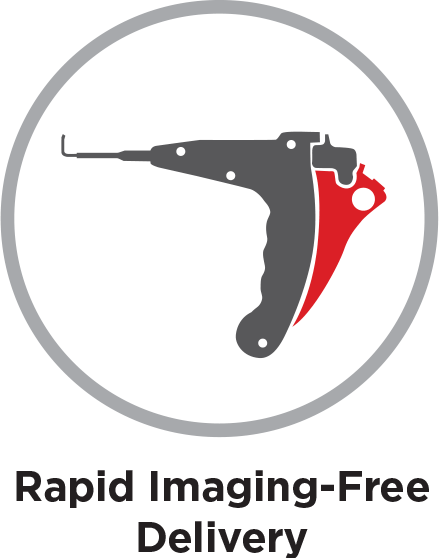Rapid imaging-free delivery